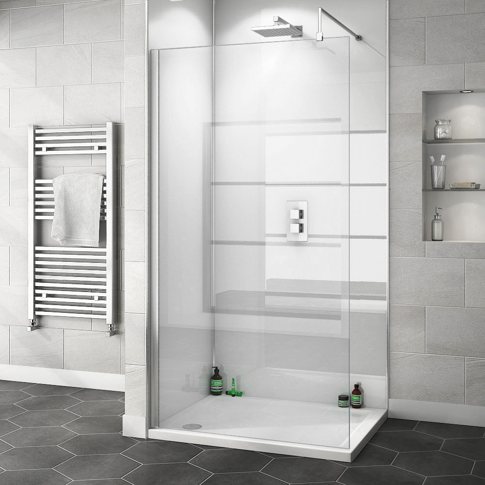 Orion Gloss White 2400x1000x10mm PVC Shower Wall Panel