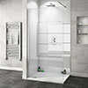 Orion Gloss White 2400x1000x10mm PVC Shower Wall Panel Small Image