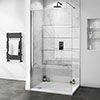 Orion White Marble 2400x1000x10mm PVC Shower Wall Panel profile small image view 1