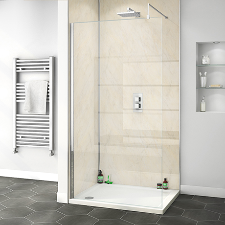 Orion Beige Marble 2400x1000x10mm PVC Shower Wall Panel