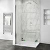 Orion Grey Marble 2400x1000x10mm PVC Shower Wall Panel profile small image view 1