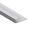 Orion End Trim - Satin Aluminium profile small image view 1