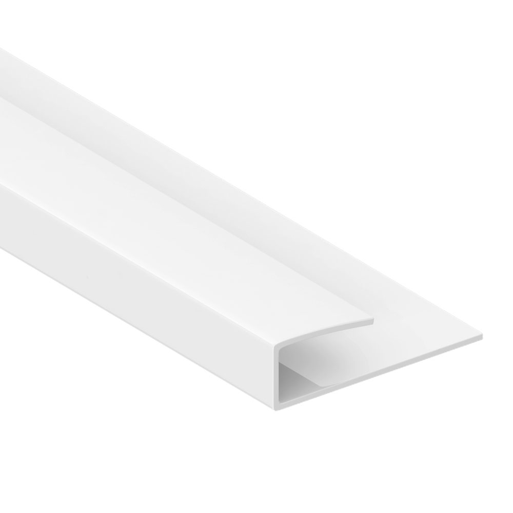 Orion End Trim - White PVC