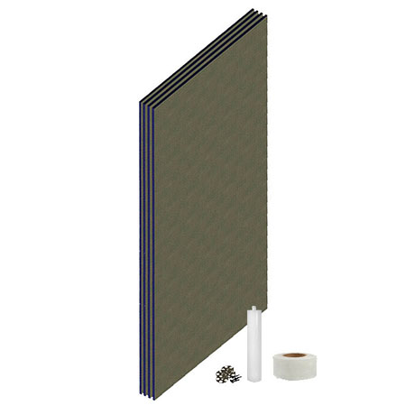Orion Wetroom Tile Backer Board Wall Kit