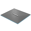 Orion 300 Linear Wetroom Square Shower Tray Former (Centre Waste) profile small image view 1