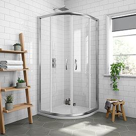Newark 1000 x 1000mm Quadrant Shower Enclosure + Pearlstone Tray