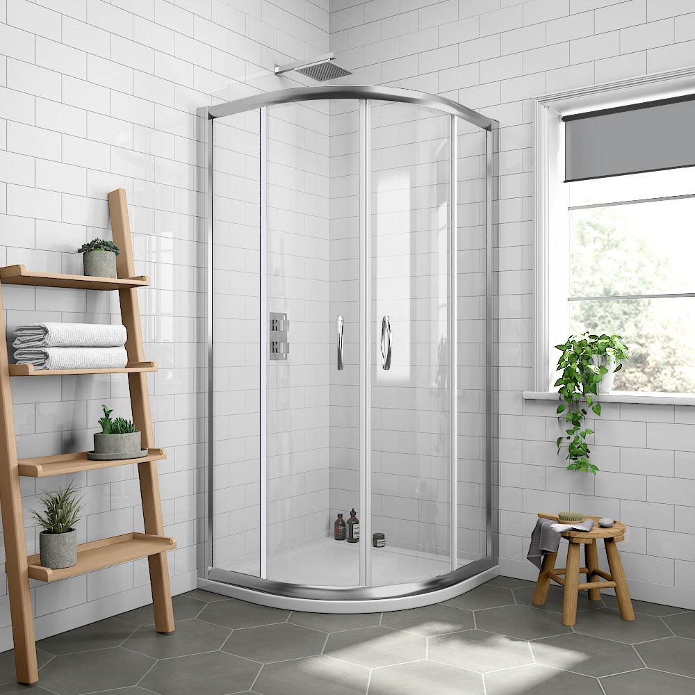 Newark 700 x 700mm Small Quadrant Shower Enclosure + Pearlstone Tray