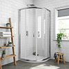 Newark 700 x 700mm Small Quadrant Shower Enclosure + Pearlstone Tray profile small image view 1