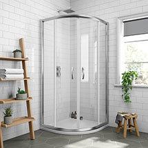 Newark 900 x 900mm Quadrant Shower Enclosure + Pearlstone Tray Medium Image