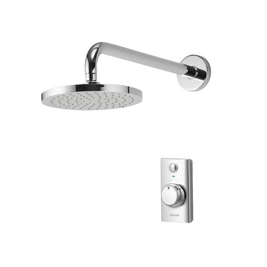 Aqualisa - Visage Digital Concealed Thermostatic Shower with Wall Mounted Fixed Head Large Image