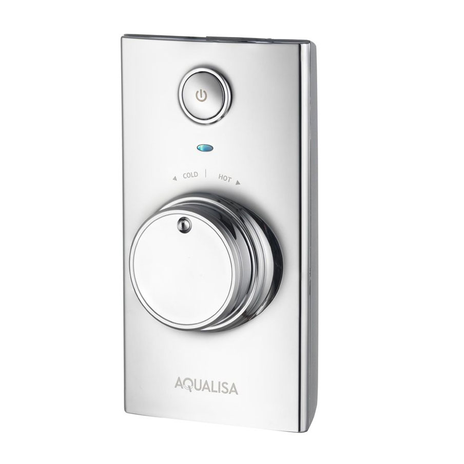 Aqualisa - Visage Digital Concealed Thermostatic Shower with Slide Rail Kit profile large image view 2