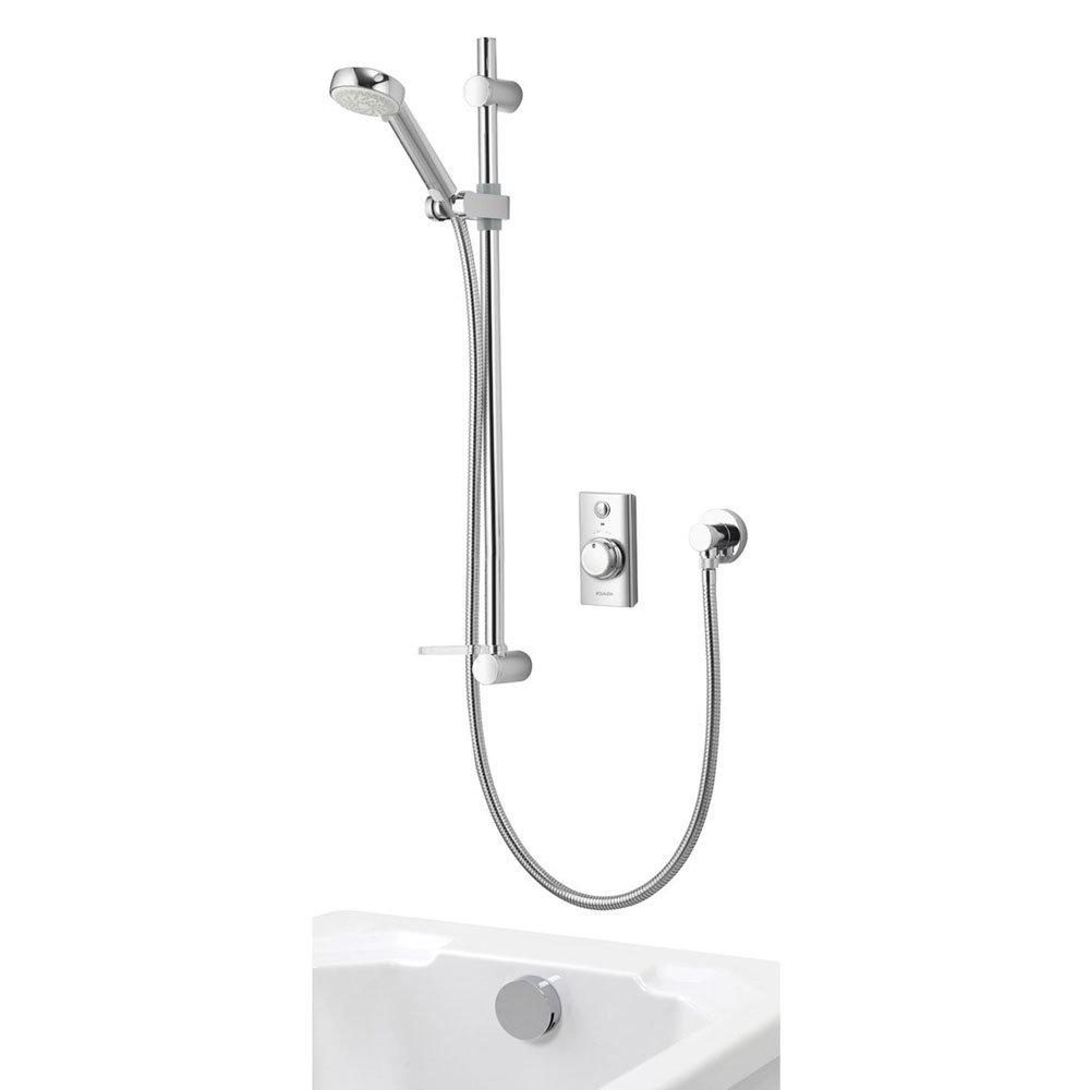 Aqualisa - Visage Digital Concealed Thermostatic Shower with Adjustable Head & Overflow Bath Filler Large Image