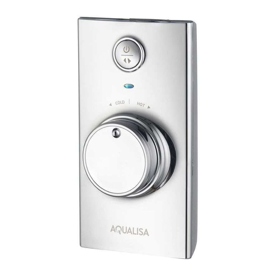 Aqualisa - Visage Digital Concealed Thermostatic Shower with Wall Mounted Fixed & Adjustable Heads profile large image view 2