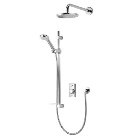 Aqualisa - Visage Digital Concealed Thermostatic Shower with Wall Mounted Fixed & Adjustable Heads