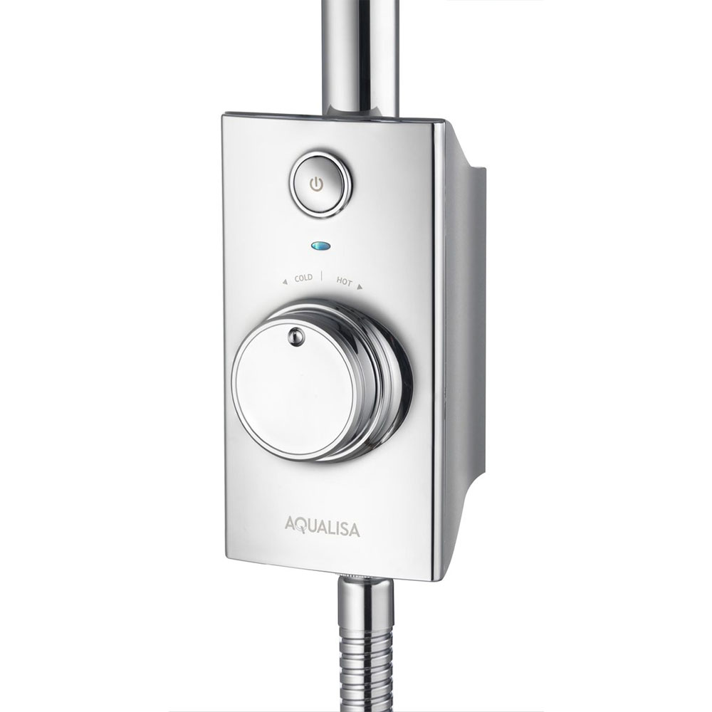 Aqualisa - Visage Digital Exposed Thermostatic Shower with Slide Rail Kit profile large image view 2