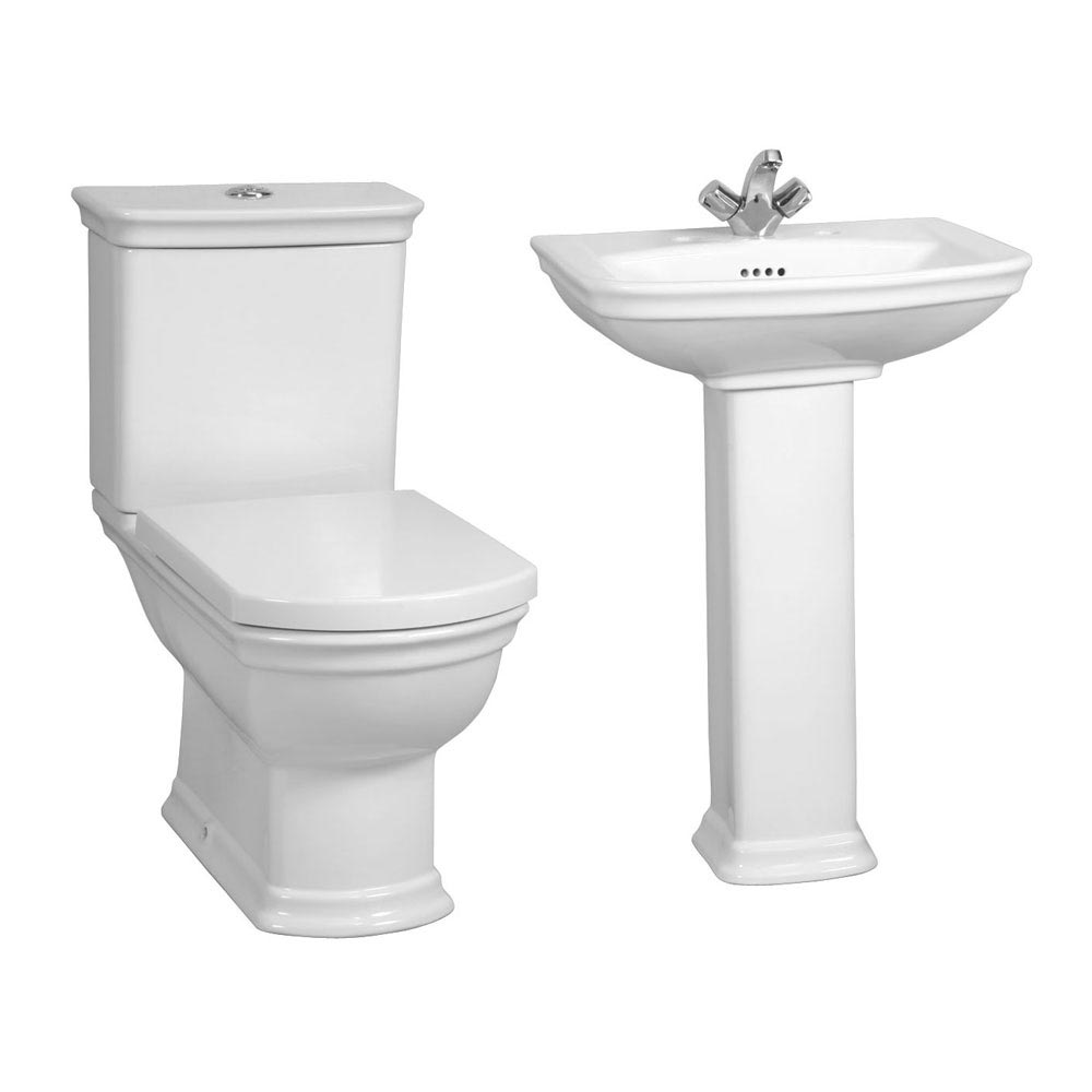 Vitra Serenada 4-Piece Traditional Bathroom Suite profile large image view 1