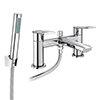 Valencia Modern Bath Shower Mixer inc. Shower Kit profile small image view 1