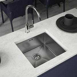 Venice 1.0 Bowl Inset or Undermount Stainless Steel Kitchen Sink