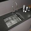 Venice 1.5 Bowl Inset or Undermount Stainless Steel Kitchen Sink profile small image view 1