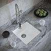 Venice 1.0 Bowl Matt White Inset or Undermount Composite Kitchen Sink profile small image view 1