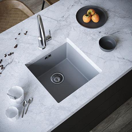 Venice 1.0 Bowl Matt Grey Inset or Undermount Composite Kitchen Sink