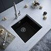 Venice 1.0 Bowl Matt Black Inset or Undermount Composite Kitchen Sink profile small image view 1