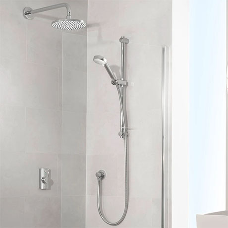 Aqualisa Visage Q Smart Shower Concealed with Adjustable and Wall Fixed Head