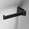 Venice Square Black Left Hand Toilet Roll Holder profile small image view 1
