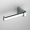 Venice Square Chrome Left Hand Toilet Roll Holder profile small image view 1