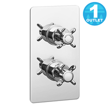 Astoria Traditional Twin Concealed Thermostatic Shower Valve Medium Image