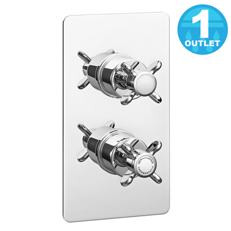 Astoria Traditional Twin Concealed Thermostatic Shower Valve