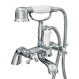 Victoria Traditional Bath Shower Mixer Tap with Handset
