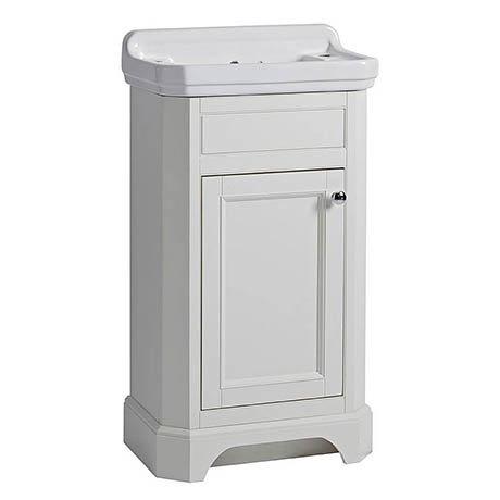 Tavistock Vitoria 500mm Cloakroom Unit & Basin - Linen White