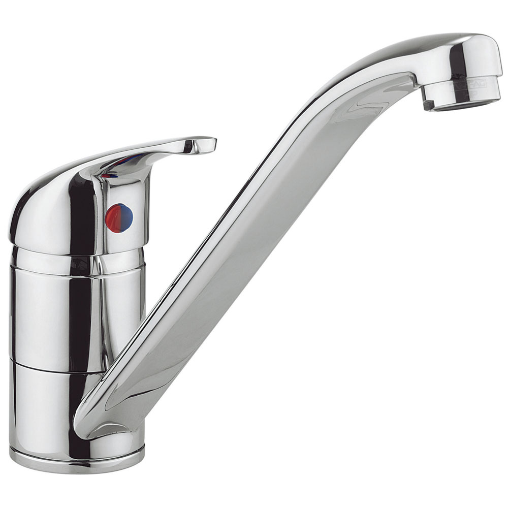 Crosswater - Cucina Vital Single Lever Kitchen Mixer - Chrome - VT710DC Large Image
