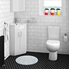 Alaska Cloakroom Suite + Corner Basin profile small image view 1