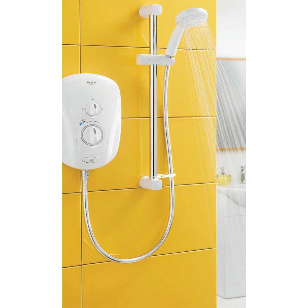 Aqualisa - Vitalise S Electric Shower - White profile large image view 2