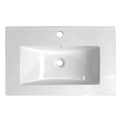 Nova 1000 x 400mm White & Ebony Brown Floor Standing Basin Unit - VTFEB1000 Profile Large Image