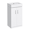 Nova Vanity 0TH Sink With Cabinet - 450mm Modern High Gloss White profile small image view 1