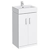 Nova Vanity Sink With Cabinet - 450mm Modern High Gloss White profile small image view 1