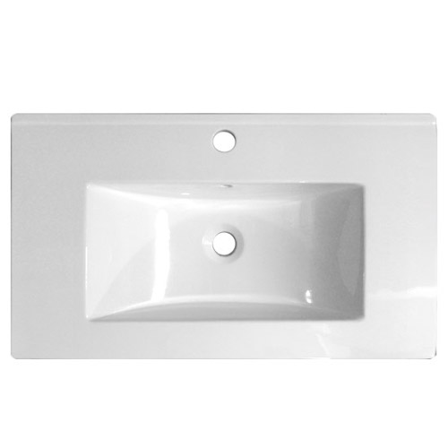 Nova Vanity Sink With Cabinet - 800mm Modern High Gloss White profile large image view 2