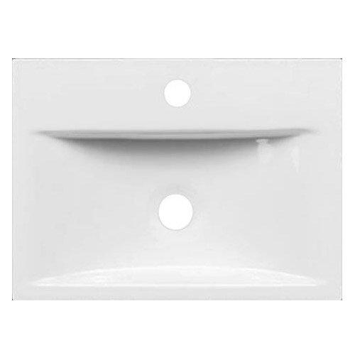 Nova Wall Mounted Vanity - 450mm Gloss White Profile Large Image