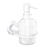 Venice White Wall Mounted Soap Dispenser profile small image view 1