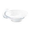 Venice White Glass Soap Dish & Holder profile small image view 1