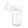 Venice White Glass Tumbler & Holder profile small image view 1
