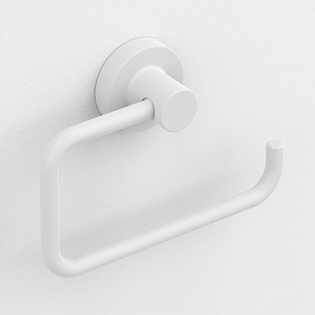 Venice White Toilet Roll Holder