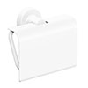 Venice White Toilet Roll Holder with Cover profile small image view 1
