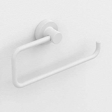 Venice White Open Towel Ring