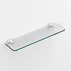 Venice White 500mm Glass Shelf profile small image view 1