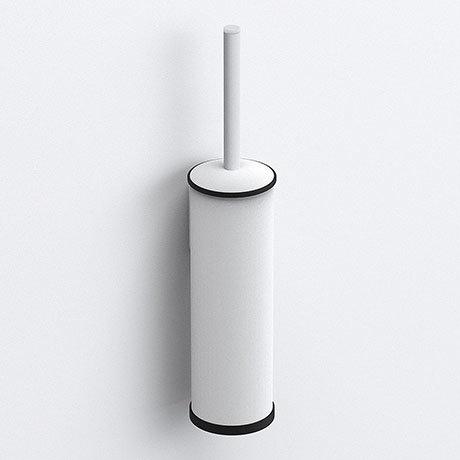 Venice White Toilet Brush & Holder
