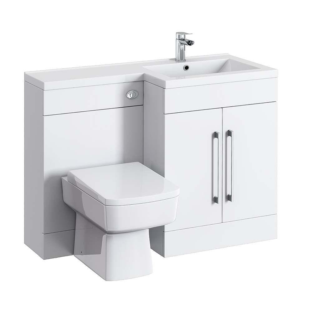Valencia Bathroom Combination Suite Unit with Basin & Square Toilet